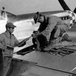 Putting Ammunition Belts In A North American P-51 Mustang In England 3 September 1944