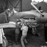 RAF Mustang I AG411 at RAF Station Burtonwood England
