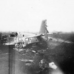 destroyed P-51 Mustang code G4+P of the 357th Fighter Group 362nd Fighter Squadron 2
