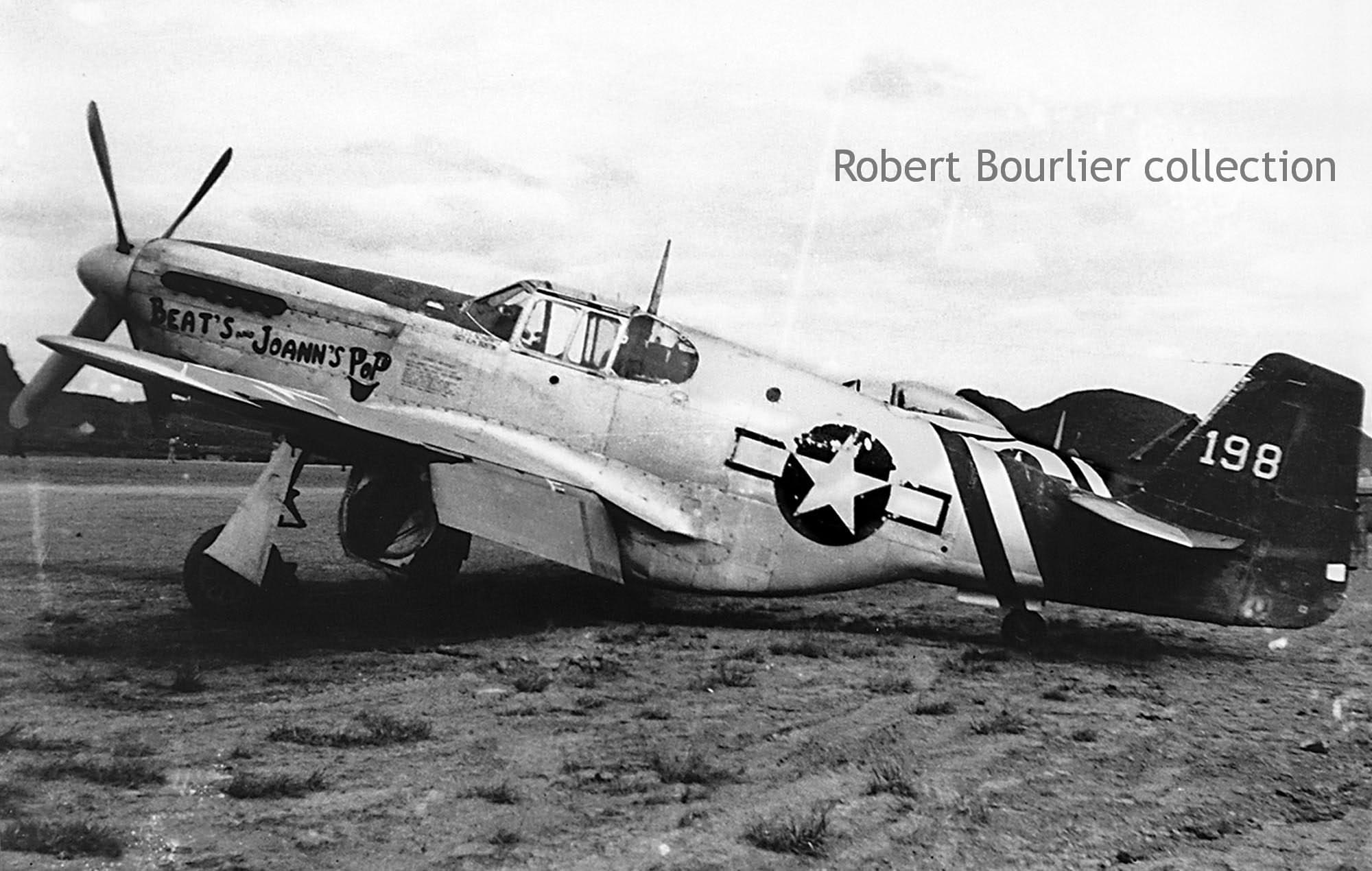 "P-51C Mustang #198 ""Beat's and Joann's Pop"" of the 75th FS ...