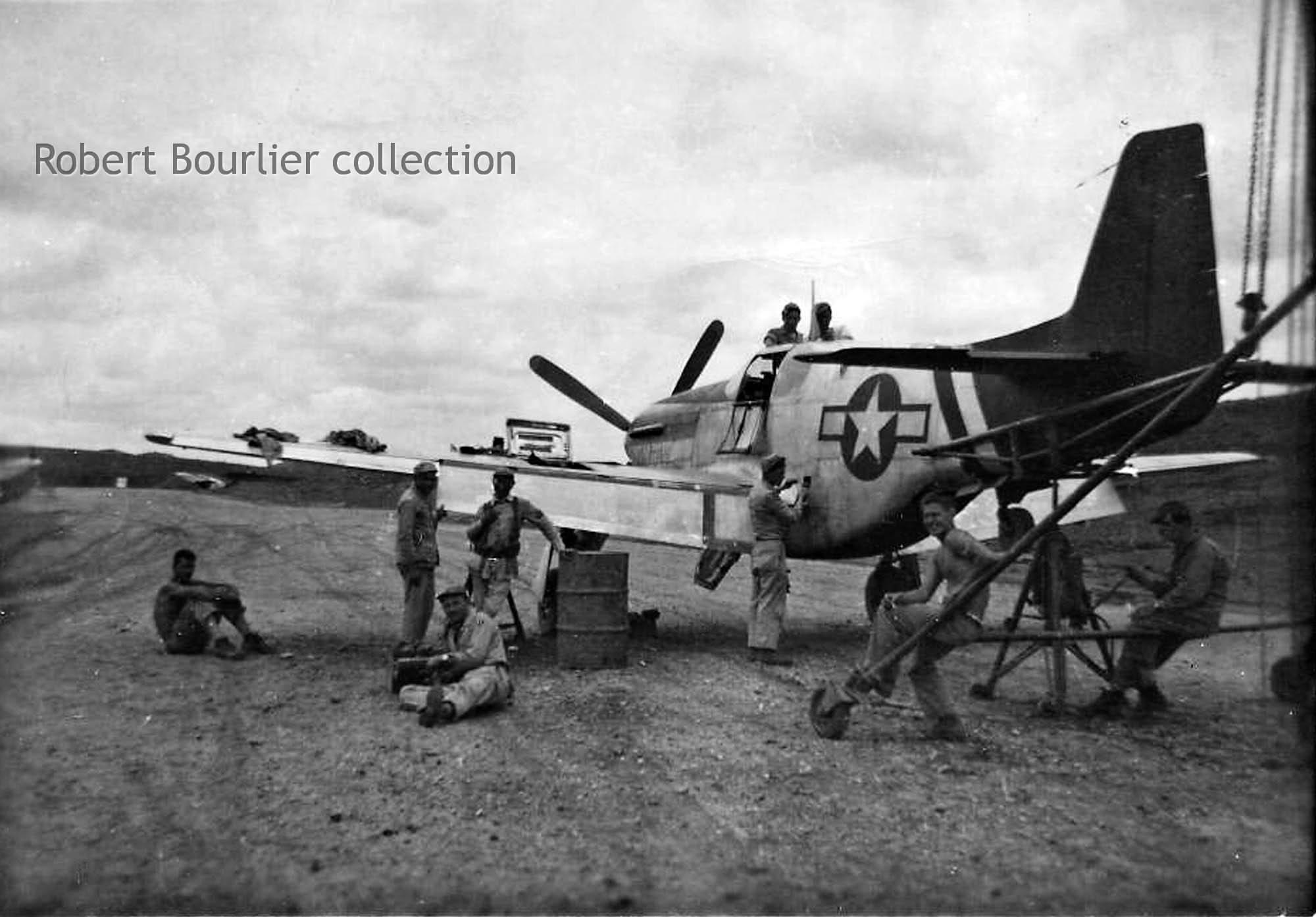 Harmonizing guns on a P-51C from 75th FS, 23rd FG | World ...  Harmonizing gun...