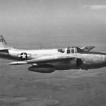 Jet fighter Bell P-59 Airacomet 44-22625 in flight