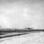 P-59 Airacomet takes off Fairbanks Alaska 1945