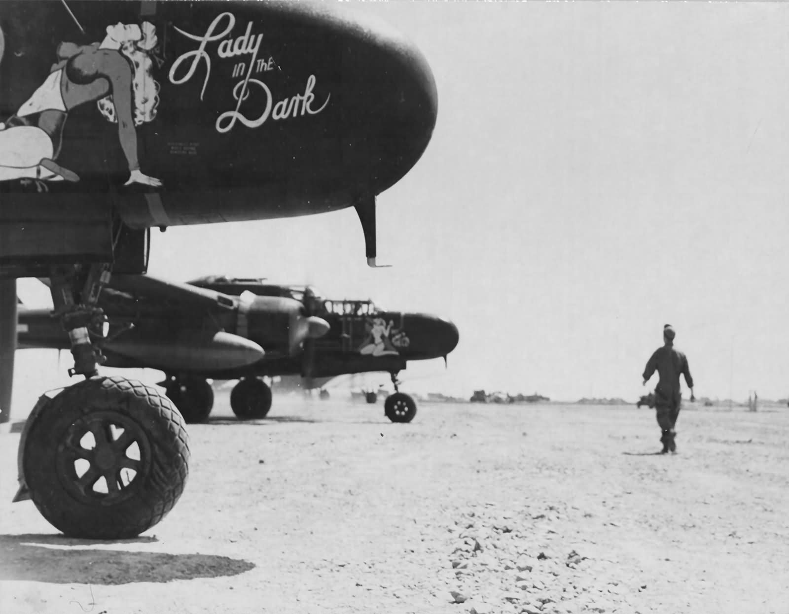 P-61B 42-39408 Lady In The Dark of the 548th Night Fighter Squadron and 42-5609 Bat Outa Hell