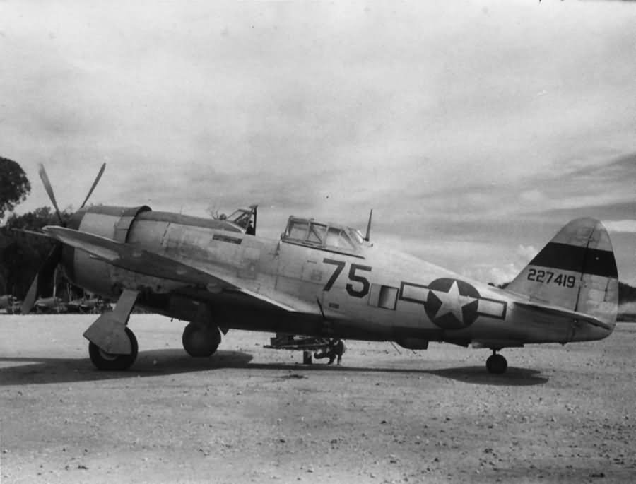 P 47 Thunderbolt Black 75 42 27419 Of The 80th FG 90th Fighter