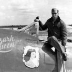 CAPT Alfred F. Eaton of the 84th FS, 78th FG in the cockpit of P-47D 42-26682 WZ-U