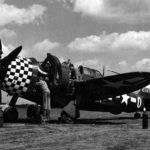 "P-47 Thunderbolt serial 42-74742 named ""War Eagle"" from 84th FS, 78th Fighter Group, pilot Capt Julius Maxwell"
