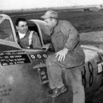 Col Joseph Laughlin of the 362nd Fighter Group and his P-47