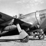 "P-47D Thunderbolt 42-27480 ""Burma Yank"" of the 89th FS, 80th Fighter Group – Myitkyina Burma"