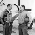 P-47 Thunderbolt 368th Fighter Group Col Frank Perego with Gen Quesada