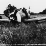 P-47 Thunderbolt 42-75094 3rd Bomb Division crash landed, 28 July 1944 Snetterton Heath