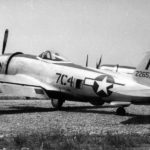P-47 Thunderbolt code 7C4, serial 42-26573 of the 324th Fighter Group – Cerignola Italy