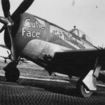 "P-47 44-32947 with double Nose Art ""Cutie Face"" and ""Ain't Misbehavin"""