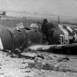 Wreck of P-47 code D5-H of the 386th Fighter Squadron, 365th Fighter Group – Normandy 1944