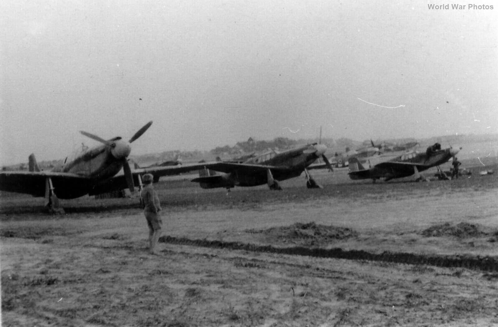 430 Sqn RCAF Mustang I line in Belgium 1944