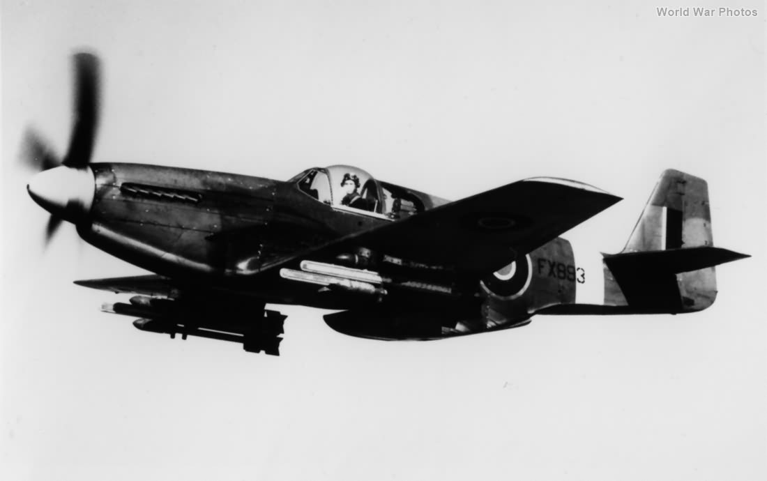 Mustang Mk III FZ893 being used for weapons trials