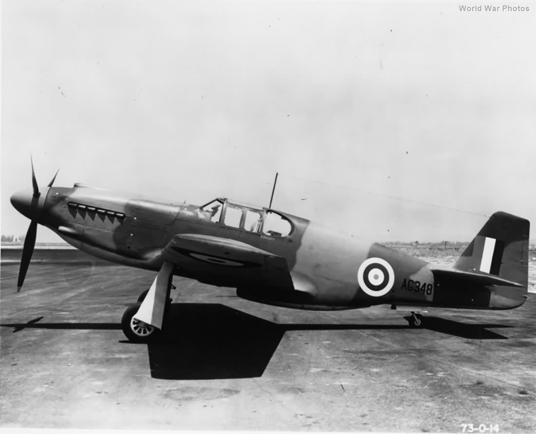 Mustang Mk I AG348 Mines Field 9 June 1941