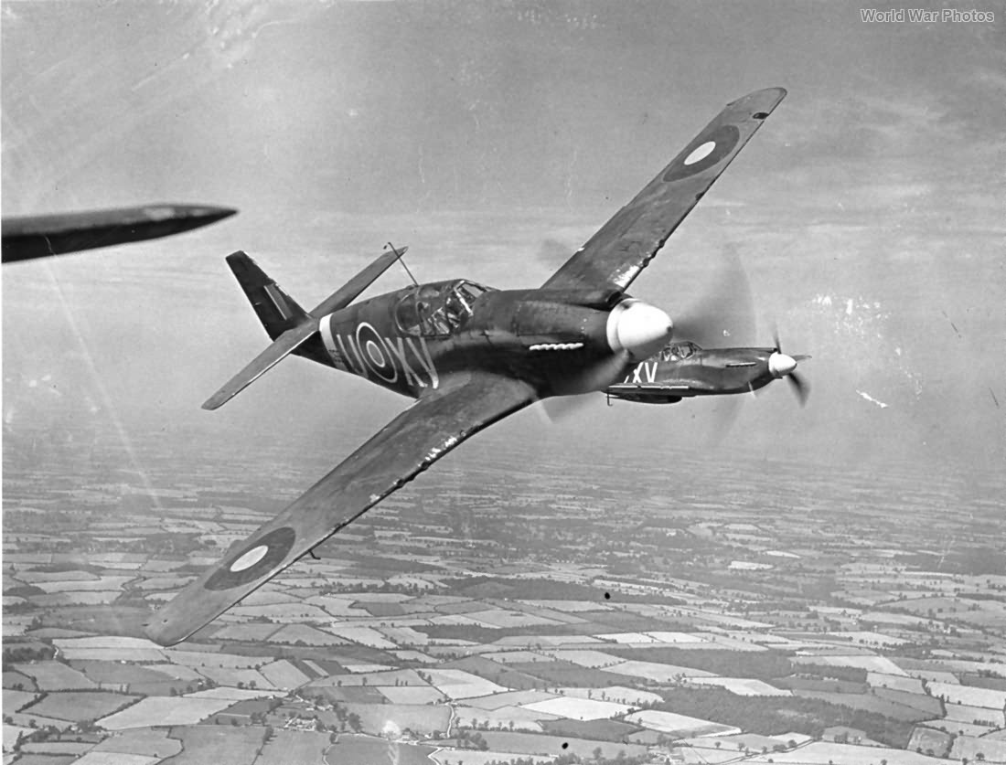 Mustang Mk I of RAF No 2 Squadron in flight 1942