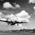 Consolidated PB4Y-1 Privateer of VD-1 Squadron Takes Off from Guadalcanal