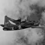 Consolidated PB4Y 2 Privateer 587 in flight
