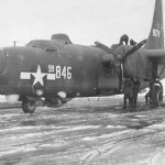 Consolidated PB4Y-2 Privateer 59846 Being Refueled on Airfield in Winter