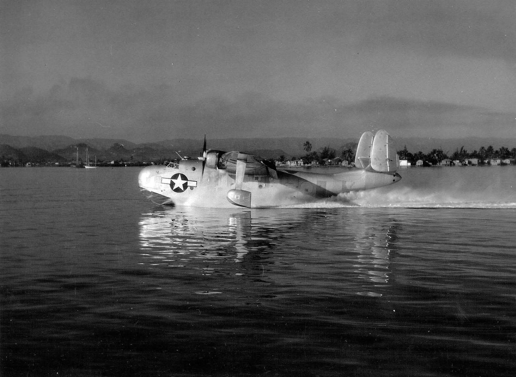 Mariner taxis in the waters off nas san juan puerto rico 16 july 1945