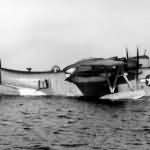 Martin PBM-5 Mariner with search radar housing above the forward fuselage