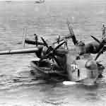 PBM-3D Mariner flying boat anchored on the water