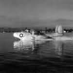 PBM-3R Mariner taxis in the waters off NAS San Juan Puerto Rico 16 July 1945