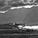 PBM-3 Mariner making a rocket assisted take off from the waters off NAS Kaneohe September 1944