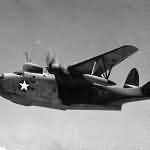 PBM-3 patrol bomber flying boat on mission