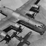 PQ-14 Cadet target drone and B-29 Superfortress