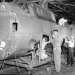 Assembly line works at the Curtiss Wright plant in Columbus 13sep43