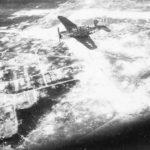 SB2C of CV-13 flying over Palau Island 44