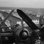 SB2C aboard an escort carrier 1944 PTO
