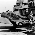 SB2C of VB 15 on the flight deck of the aircraft carrier Hornet 2jan44
