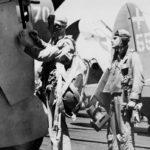 VB-18 pilot makes final naviagation notes