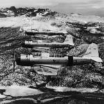 SB2U-1 Vindicators of the VB-3 in flight 1939