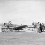 SB2U in England April 1942. Vindicators in the two tone paint scheme of Blue Gray and Light Gray.