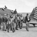 SB2U Vindicator and pilots of VS-72 England April 1942