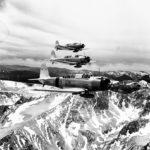 SB2U Vindicators of VB-3 over Sierra Nevada range near Mt. Whitney 11 July 1938