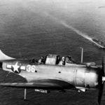 SBD 5 36 VB-10 mar44 over USS Enterprise