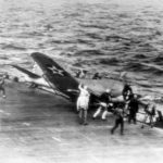 SBD from VB-6 crashes on Enterprise 42
