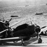 SBD on flightdeck of USS Hornet