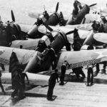 SBD on the flight deck of the aircraft carrier Enterprise on 3may42