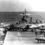 SBD on the flight deck of the aircraft carrier