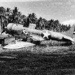 war weary SBD of VMSB 233 in the boneyard at Henderson Field
