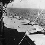 TBD-1 Devastators of VT-3 on aircraft Carrier USS Saratoga 1941