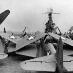 TBD-1 Devastators of VT-4 on the flight deck of the carrier USS Ranger CV-4 in June 1942
