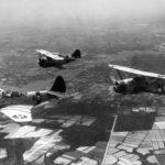 TBD-1 of VT-6 and F3F-2 of VF-6 and SBC-1 VS-6 in flight over Virginia